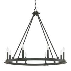 Capital Lighting Fixture Company Pearson Black Iron Eight Light Chandelier On SALE