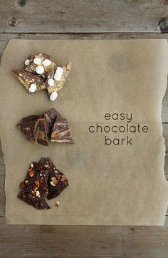Super easy, totally customizable, and so tasty! | Easy Chocolate Bark