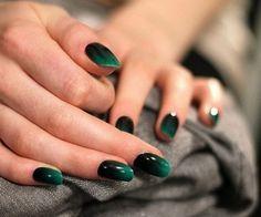 White to black ombre nails emerald green nail art design black and white ombre stiletto nails . white to black ombre nails Nail Art Designs, Dark Nail Designs, Green Nail Designs, Ombre Nail Designs, Acrylic Nail Designs, Acrylic Nails, Nails Design, Black Ombre Nails, Metallic Nails