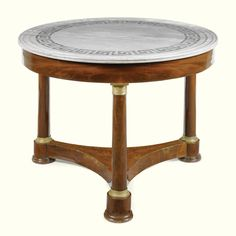 """FURNITURE FROM THE COLLECTION OF GIANNI VERSACE VILLA FONTANELLE, MOLTRASIO"": AN ITALIAN GILT-BRONZE-MOUNTED MAHOGANY GUÉRIDON TABLE 19TH CENTURY. Sotheby's"