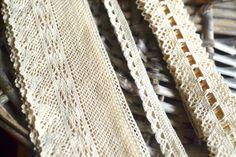 Crochet trim I Ivory crochet trim I Crochet trim set I Crochet trim lot I Crochet I Shabby chic lace I Vintage lace trim I Lace trim I Lace by SixthCraft on Etsy