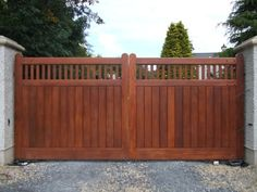 simple wooden driveway gates - Google Search