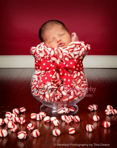 newborn photography christmas candy tinabarefoot