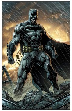 This rendering captures the qualities of Batman perfectly; his resolve, intimidation factor, how truly formidable he is & his toughness. Truly an impressive piece of art.