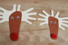 24 Christmas Crafts for Kids » Hands and Foot Reindeer