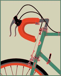 1 step in digitalizing a bike for graphic design. Thanks Allen Peters!