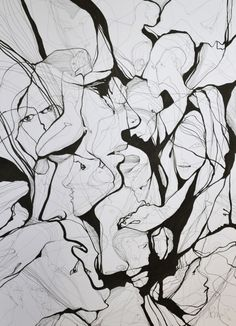 """Saatchi Online Artist: Boicu Marinela; Pen and Ink 2013 Drawing """"that will do ! enough"""""""