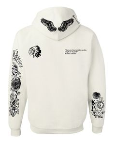 Justin Bieber Son of God body Tattoo women hooded sweatshirt
