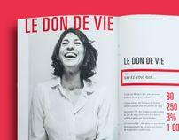 Nouvelle image d'entreprise pour Héma-Québec. *Projet fictif-Héma-Québec's new identity.  *school project