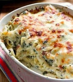 Chicken & Spinach Pasta Bake #pastafoodrecipes