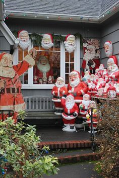 Santa blow mold collection - Christmas kitsch at its finest!