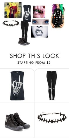 """""""Untitled #254"""" by yousavedmexoxo on Polyvore featuring Topshop and Converse"""