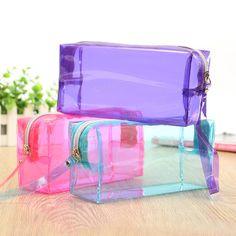 d3b822570cf5 Hot Sale Lagre Capacity Clear Pencil Pen Case Cosmetic Bag Makeup Pouch  Zipper Bag Office Supplies for Students