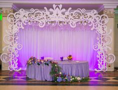 Inexpensive Wedding Venues Near Me Quinceanera Decorations, Backdrop Decorations, Wedding Decorations, Greek Wedding, Elegant Wedding, Rustic Wedding, Thermocol Craft, Head Table Decor, Creation Deco