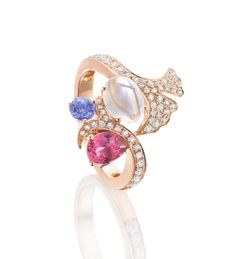 Flora Multi-Gem Rose Gold Ring
