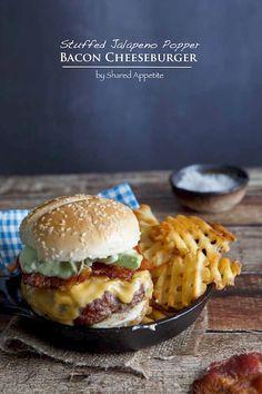 Stuffed Jalapeño Popper Bacon Cheeseburger