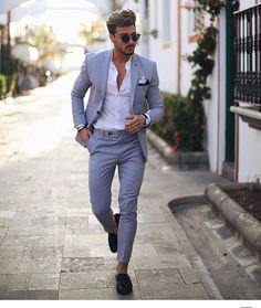 Mens grey linen suit  #RePin by AT Social Media Marketing - Pinterest Marketing Specialists ATSocialMedia.co.ukMens grey linen suit