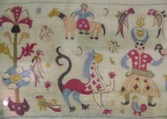 embroidered bed-cover from Skyros, circa Benaki Museum Benaki Museum, Contemporary Decorative Art, Embroidered Bedding, Naive Art, Some Image, Islamic Art, Athens, Fabric Crafts, Flower Art