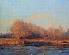 November Icing Up by Marc Hanson Oil ~ 16 x 20