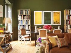 7+of+the+Most+Gorgeous+Green+Rooms+We've+Ever+Seen+via+@domainehome
