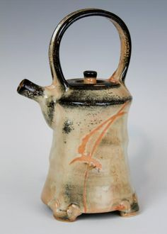 Malcolm Davis  Shino Teapot With Feet