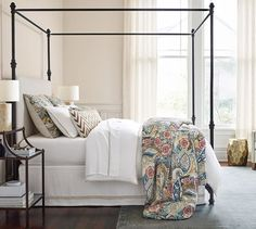Black, white, iron and brass always go great with a pop of pattern and color.
