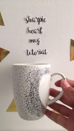 All you need is love, and a Sharpie, to create this beautiful Vday mug.