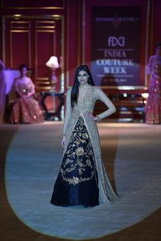 Shyamal & Bhumika collection But I would take the skirts work all the way to the end or even just do it on the bottom half..