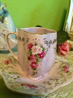 Beautiful, Collectable, porcelain, teacup and saucer.