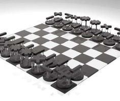 sherlock holmes hand painted theme chess set | chess sets