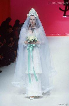 La mariée byzantine Yves Saint Laurent.