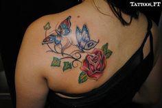 Fotos de Tatuagens: Boroboleta e rosa