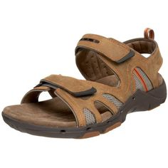 fd333721321 Double adjustable straps ensure a custom fit in this men s sandal