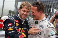 Sebastian Vettel & Michael Schumacher. The best drivers EVER!