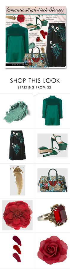 """""""Romantic High-Neck Blouses"""" by beebeely-look ❤ liked on Polyvore featuring Dolce&Gabbana, Marni, Gucci, Alexander McQueen, Ellis Faas, Accessorize, TrickyTrend, romantic, gucci and dolcegabbana"""
