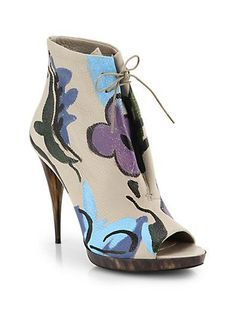 burberry hand painted bootie