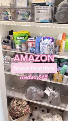 Linen Closet Organization, Home Organization Hacks, Best Amazon Buys, Amazon Products, Cool Gadgets To Buy, Amazon Gadgets, Amazon Home, Home Gadgets, Useful Life Hacks