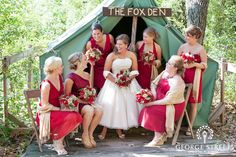 Gorgeous red bridal party look!
