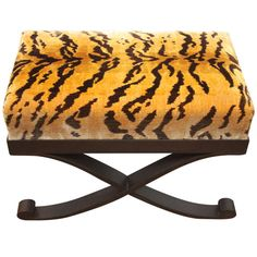 Stool with Tiger Fabric Upholstery http://pinterest.com/cameronpiano