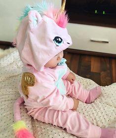 Little baby unicorn 💖🌈🦄 So Cute Baby, Baby Kind, Cute Baby Clothes, Cute Kids, Cute Babies, Unicorn Baby Clothes, Baby Unicorn Costume, Unicorn Baby Outfit, Baby Kostüm