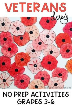Check out these Veterans Day activities to teach kids about the significance of this day. Teach them to commemorate with poppy crafts and other learning & reflective printables and worksheets {Grade 5, Grade 6, fifth grade, sixth grade, homeschool} #veteransday #veteransdayactivities #rainbowskycreations Remembrance Day Activities, Veterans Day Activities, Veterans Day Poppy, Poppy Craft, Anzac Day, School Resources, Creative Thinking, Teaching Kids, Special Day