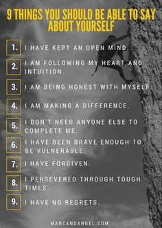 things-you-should-be-able-to-say-about-your-life - self improvement quotes Chakras, I Dont Need Anyone, Look At You, Way Of Life, Best Self, How To Better Yourself, Positive Thoughts, Positive Vibes, Spiritual Thoughts
