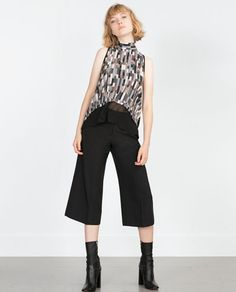 Image 1 of PRINTED GAUZE TOP from Zara