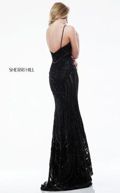 Black Two Straps Sherri Hill 41006 Prom DressOutlet