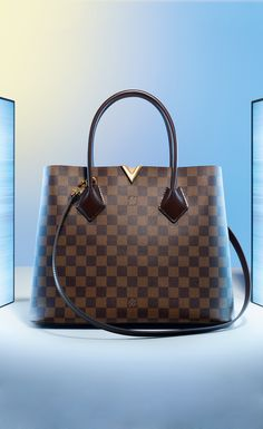 A modern take on a loved classic. Louis Vuitton's Kensington Damier has added storage and pockets for when you're on the go. Strong, elegant, and dashing, the Kengsington is a gift with purpose.
