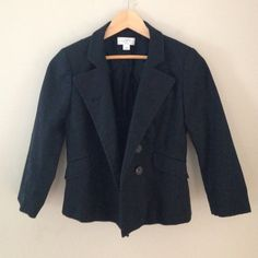 LOFT-Ann Taylor Petites ~Classic black blazer Double breasted 3/4 sleeves~like new~a must have for every closet! Lined~ great quality. A closet staple! LOFT Jackets & Coats Blazers