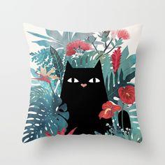 Popoki is Hawaiian for cat. This little guy is nestled into a bed of Hawaiian plants, enjoying the aloha spirit.<br/> <br/> cat, hawaii, aloha...