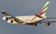 A6-EDW EMIRATES A380 Emirates Airbus, Emirates Airline, Airbus A380, Boeing 747, Airports, Airplanes, Aviation, Aircraft, French