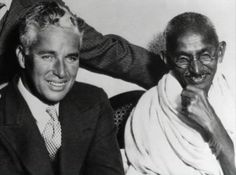 Charlie Chaplin and Gandhi (and some anonymous dude's left arm)