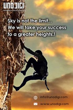 Whenever you see a successful business, someone once made a courageous decision. Sky is not the limit... We will take your success to greater heights! . Looking for creative web design Or a mobile application? Let's talk - 091775 08848 or info@unodigi.com . . #unodigi #digitalagency #beinspired #webdesign #mobileapp #ux&ui #socialmedia #hyderabad #vizag #work #godigital #web #mobile #ecommerce #Social #leads #strategies #motivation #work #godigital #clientlove #goals #digitalmarketing… Creative Web Design, Successful Business, Mobile Application, Hyderabad, Ecommerce, Digital Marketing, Social Media, Goals, Sky